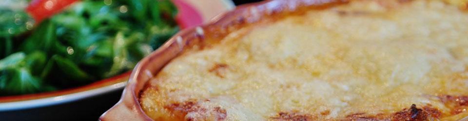 Lasagna frisch zubereitet im Ciao Ciao